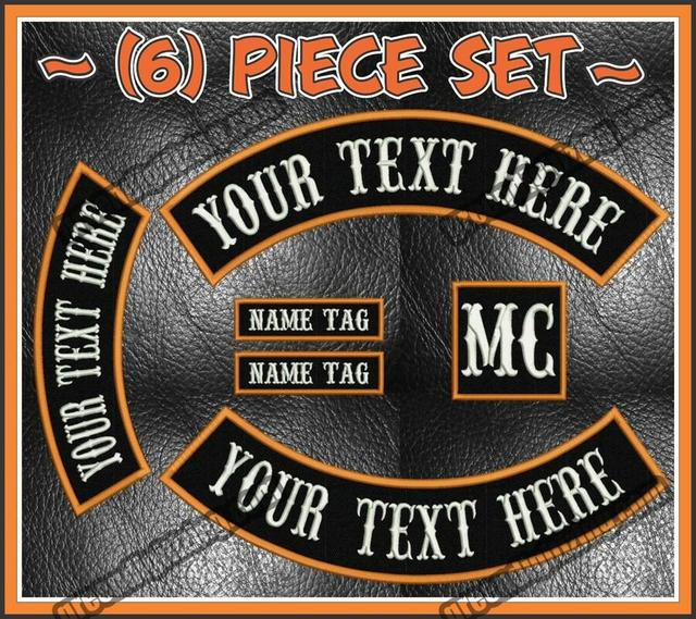 Custom Embroidered Rocker Patch Font 45cm Patch Front Name