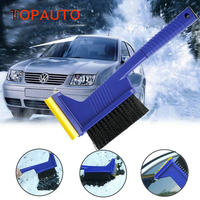 TopAuto Multifunctional Car Snow Brush Shovel Windshield Window Ice Scraper Snow Remove Escape Emergency Safe Hamer