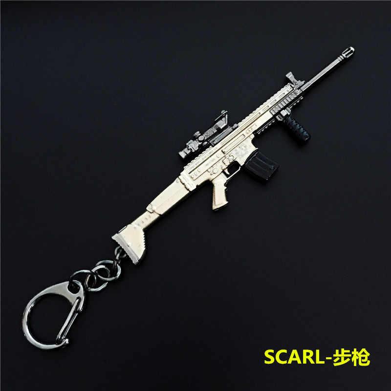 2019 Горячие игры 14 видов стилей PUBG CS GO брелоки в виде оружия AK47 пистолет модели 98 K снайперская винтовка брелок кольцо для Для мужчин подарки, сувениры 10 см