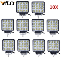 8pcs 48W Square LED Work Light Spot Beam For Jeep Wrangler ATV 4x4 Rv Trailer Fishing