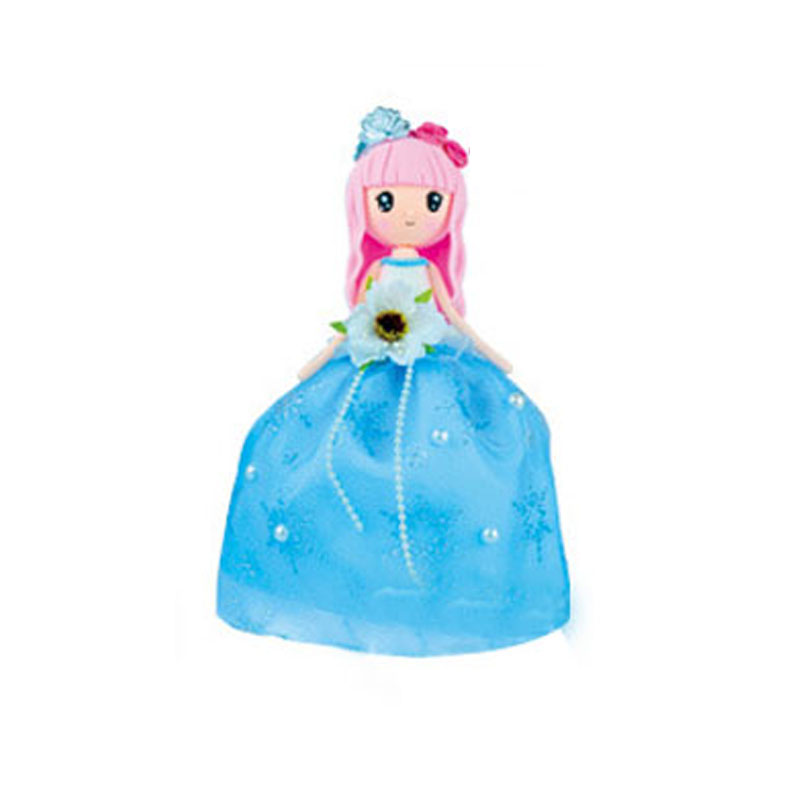 ФОТО 1 Piece New DIY Toys  Clay Princess With Blue Dress Playdough Material Package For Children Colored Clay Safe Non-toxic Birthday