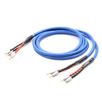 LS 180 Copper Silver plated Speaker cable With CMC Gold plated Banana Connector hifi speaker cable