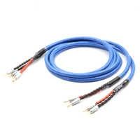 LS-180 Kupfer Silber überzogene Lautsprecher kabel Mit CMC vergoldete Bananen Stecker hifi lautsprecher kabel