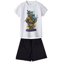72fc27340 Ninja Turtle Kids Clothing Set Cartoon Chibi Ninja Costumes Toddler Boys  Girls Summer Clothes Short Sleeve