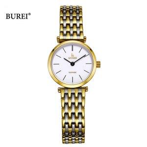 Image 1 - Relogio Feminino BUREI Brand Women Fashion Watches Ladies Luxury Waterproof Crystal Sapphire Quartz Wristwatch Reloj Mujer 2020