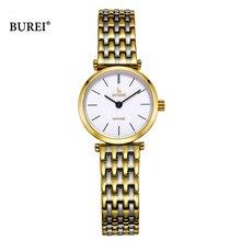 Relogio Feminino BUREI marka kadınlar moda saatler bayanlar lüks su geçirmez kristal safir kuvars kol saati Reloj Mujer 2020