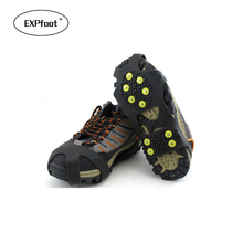 EXPfoot Rubber Teeth Non-Slip Ice Gripper Snow Crampon Mountaineering Climbing Hot Size 31~48 Winter Boots Spike Simple Gripper
