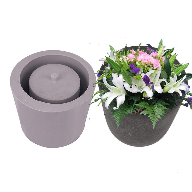 Silicone Mold Pot Round Cement Flower Silicone Mold Home Decoration Crafts Succulent Plants Planter Vase Silicone Mold ConcreteSilicone Mold Pot Round Cement Flower Silicone Mold Home Decoration Crafts Succulent Plants Planter Vase Silicone Mold Concrete