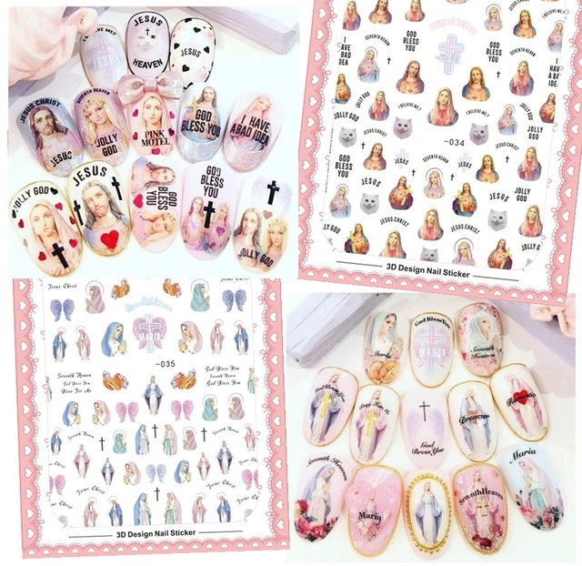 Newest solonail designs 3d nail art sticker decal god jesus magico newest solonail designs 3d nail art sticker decal god jesus magico nail art decal tools prinsesfo Image collections