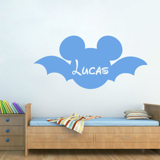 Mickey Mouse Head Silhouette Wall Decal Custom Name Art Wall Sticker For Home Nursery Bedroom Sweet & Mickey Mouse Head Silhouette Wall Decal Custom Name Art Wall Sticker ...