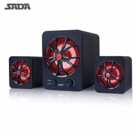 SADA Wired Combination speaker Portable speaker 2.1 Surround Sound Speaker for Mobile Phone Computer Laptop