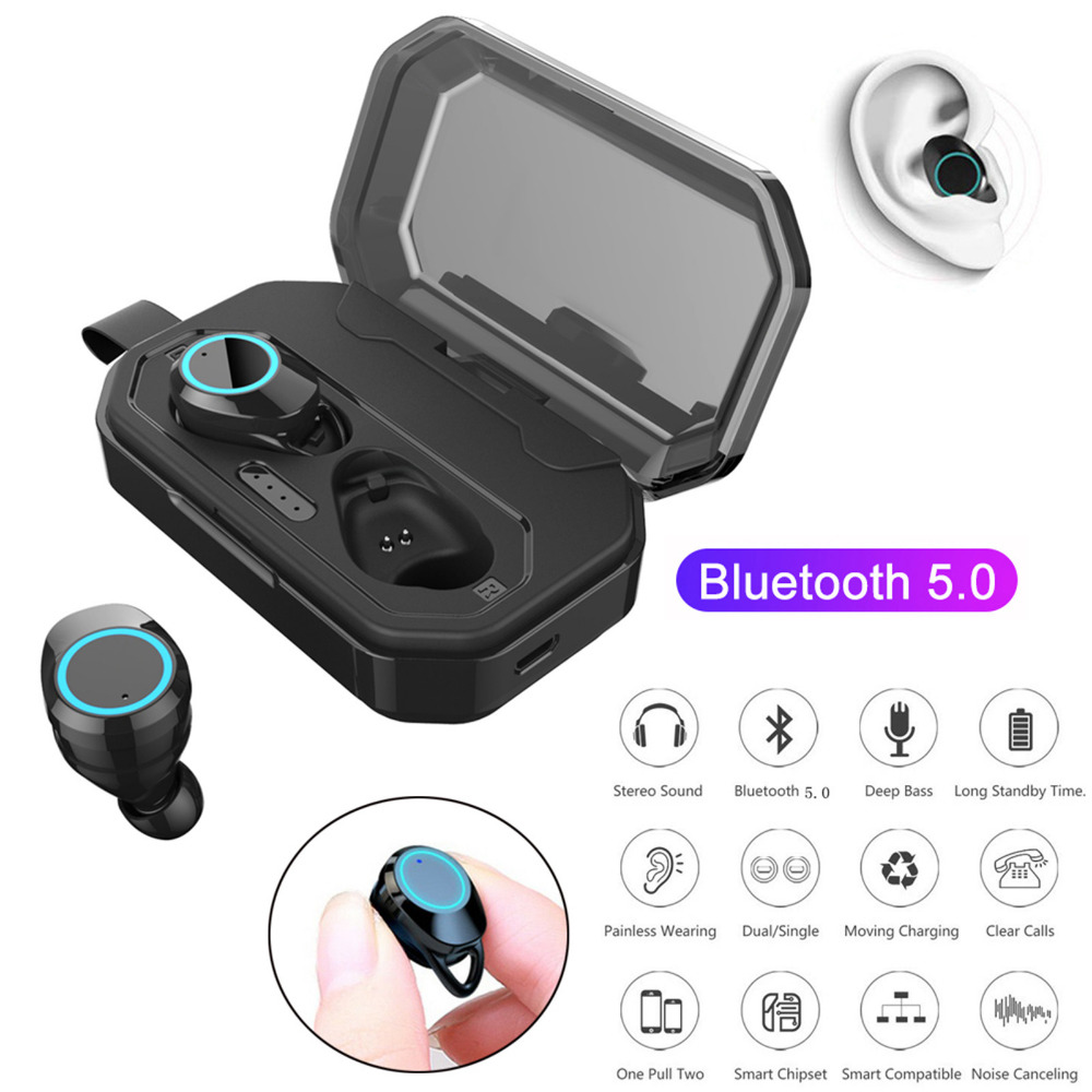 TWS Earphones <font><b>Bluetooth</b></font> 5.0 Wireless Stereo Headsets Earbud Headset for Samsung S10 <font><b>S9</b></font> iPhone XR XS Huawei P30pro P20pro LG image