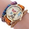 Moda Elegante Elegante Y Chic Knit Mujer Relojes Decorativos relojes de señoras 2016 Montre femme Pulsera elegante mujer Feida
