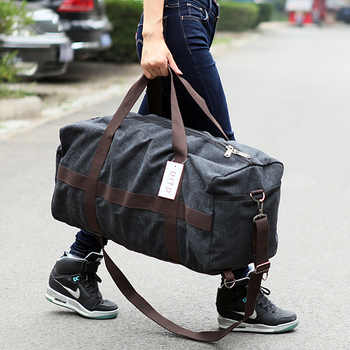 New Canvas Men Travel Bag Large Capacity Women Hand Luggage Travel Duffle Bag Weekend Bags Multifunctional Reistas Shoulder Bag - DISCOUNT ITEM  38% OFF All Category