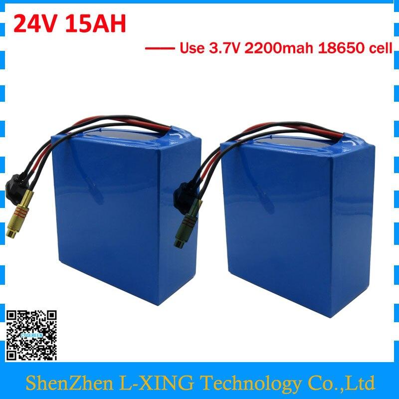 Wholesale 2pcs/lot 350W <font><b>24V</b></font> <font><b>15AH</b></font> <font><b>battery</b></font> 24 V 7S electric bike <font><b>battery</b></font> <font><b>15AH</b></font> with 2A Charger Free shipping and customs fee