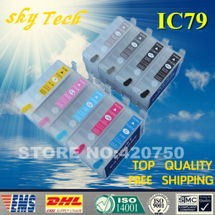 Empty Refillable cartridges for Epson SC PX5VII, PX5VII refill cartridge for IC79 series . with ARC chips refillable printer ink cartridges lc133 empty long type for brother mfc j4410n j4510n j4710dw with arc chips