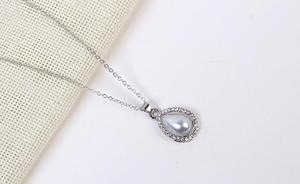 Image 3 - Poem snow Fashionable Simple Water Drop Earrings Necklace Set