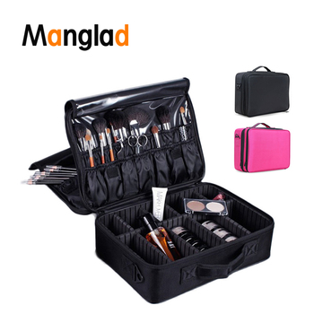 Cosmetic Bag for Makeup Brushes Train Case Professional Clapboard Portable Travel Organizer Storage Cosmetic Case Dropshipping makeup case portable double open aluminum travel cosmetic organizer box makeup train case professional cosmetics bag veninow