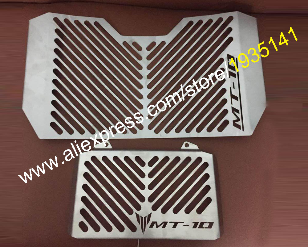 Hot Sales,Radiator Grille Guard Cover & Oil Cooler Guard Cover For Yamaha MT-10 / FZ-10 2016 2017 MT10 FZ10 Motorcycle Parts motorcycle radiator grille grill guard cover protector golden for kawasaki zx6r 2009 2010 2011 2012 2013 2014 2015