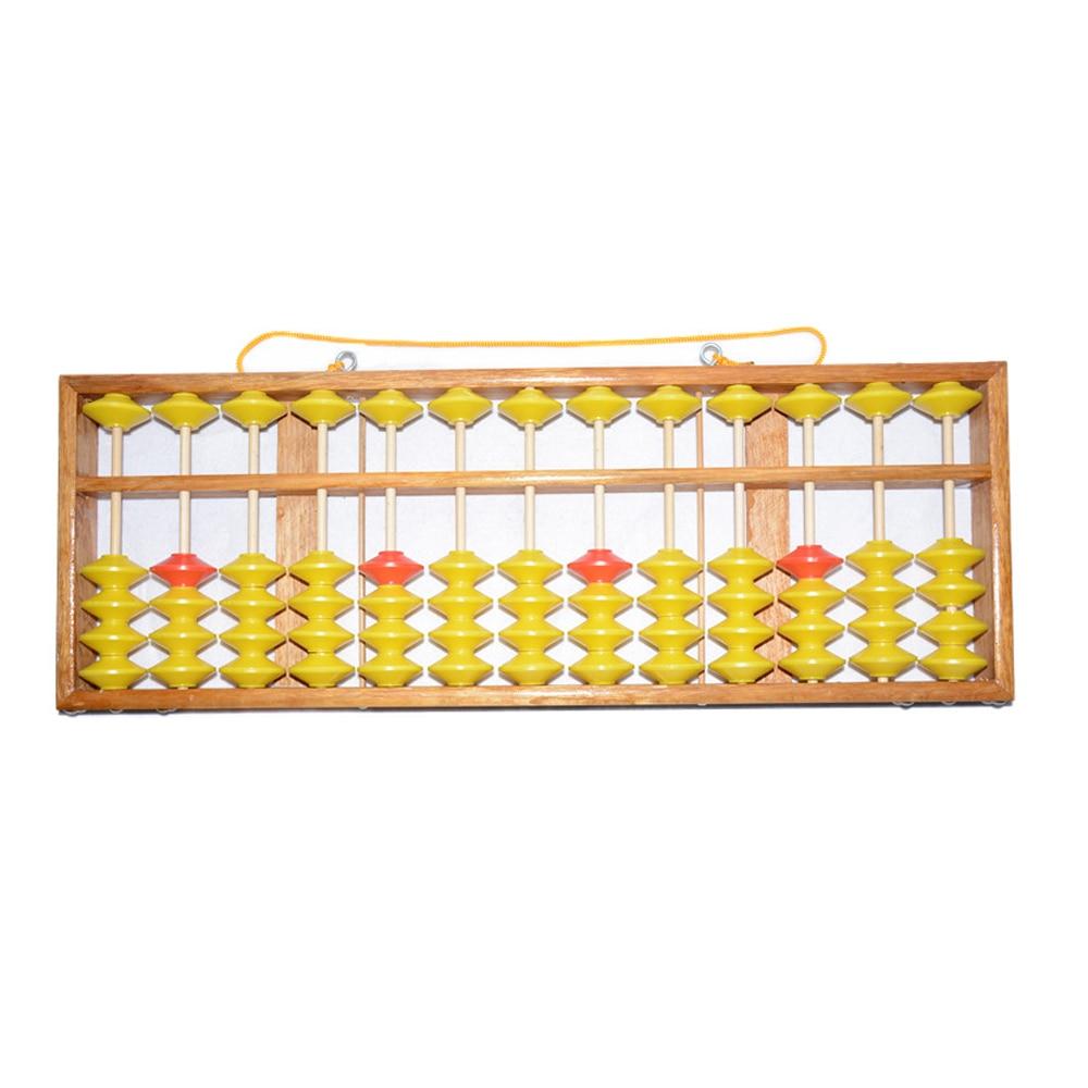 Lomalson Abacus ressources d'apprentissage 13 colonne chinois Soroban caculateur classique en bois éducatif comptage jouet Maths apprentissage - 4
