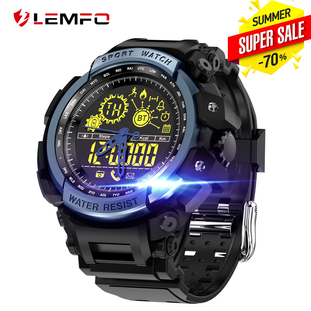 LEMFO LF21 Smart Watch Waterproof 50 Meter Sport Ultra-long Standby Pedometer Smartwatch Men Wearable Devices For IOS Android