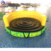 Summer water toys inflatable UFO flying boat 3m diameter inflatable flying sofa boat crazy water towable tube inflatable UFO