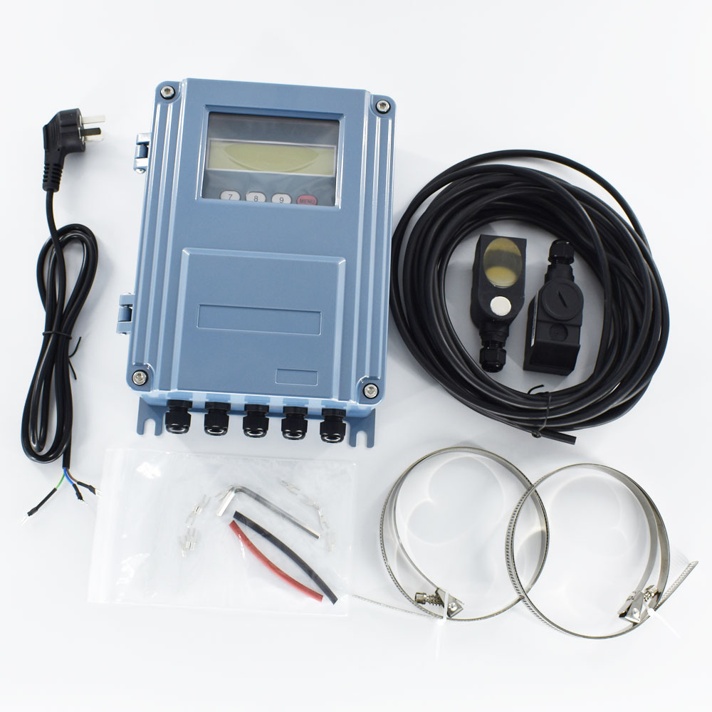 Digital medidor de vazão Ultrassônico TDS-100F DN50mm-700mm Fora o clip-on M2 Transdutor Wall-mount Medidor de Fluxo De água
