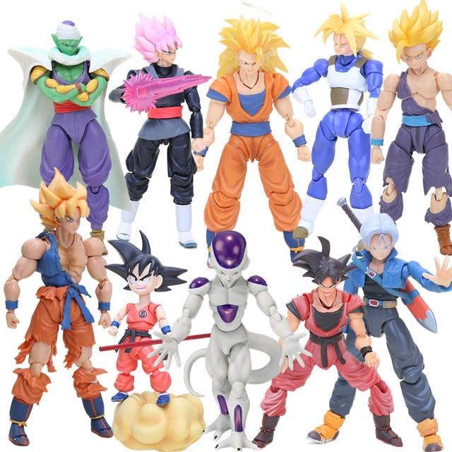Estatueta Gohan Super Saiyan Goku Vegetto Trunks Piccolo Vegeta Dragon Ball Z Figura de Ação Brinquedos Figura Coleção Modelo Boneca
