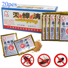 20 шт. эффективное Killing таракан порошкообразная приманка отпугиватель тараканов насекомых тараканов убийца противопаразитный отпугиватель Борьба с вредителями