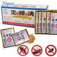 20 pçs eficaz matando barata isca em pó repelente barata inseto roach assassino anti pragas rejeitar armadilha controle de pragas|Iscas mortas e artificiais| |  -