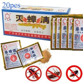 20 piezas, polvo de cebo mata cucarachas efectivo, repelente de cucarachas, mata cucarachas, Anti Trampa de rechazo, Control de plagas