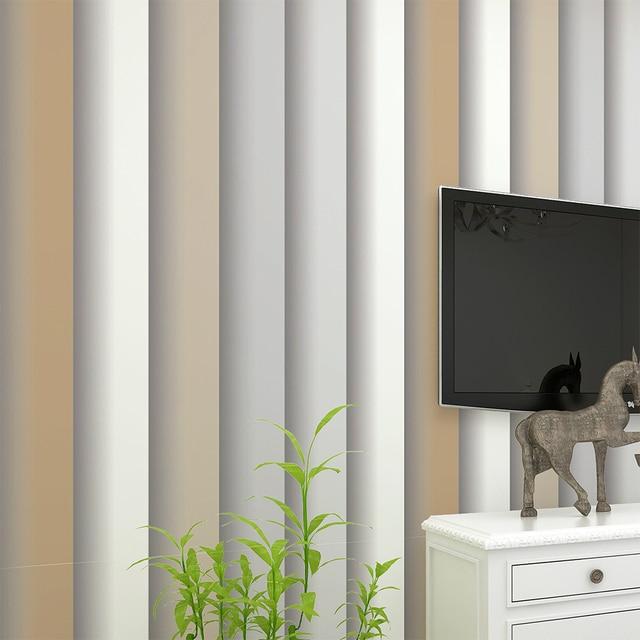 Haokhome modern stripe wallpaper rolls tan grey geometric - Leroy merlin papier peint chambre adulte ...