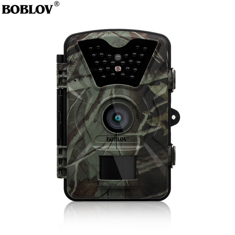 "Boblov CT008 Trail Game Scounting Hunting Wildlife Camera 2.4"" LCD Night Vision Digital Surveillance Photo Trap 24pcs LEDs Cam-in Hunting Cameras from Sports & Entertainment"