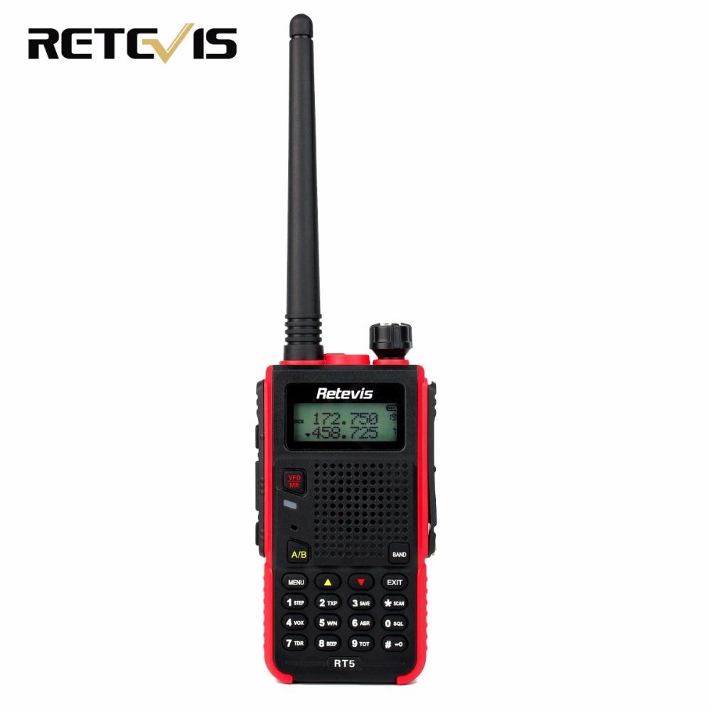 imágenes para Mano Walkie Talkie Retevis RT5 128CH Doble Banda VHF UHF 136-174 y 400-520 MHz VOX Jamón Radio Transceptor HF