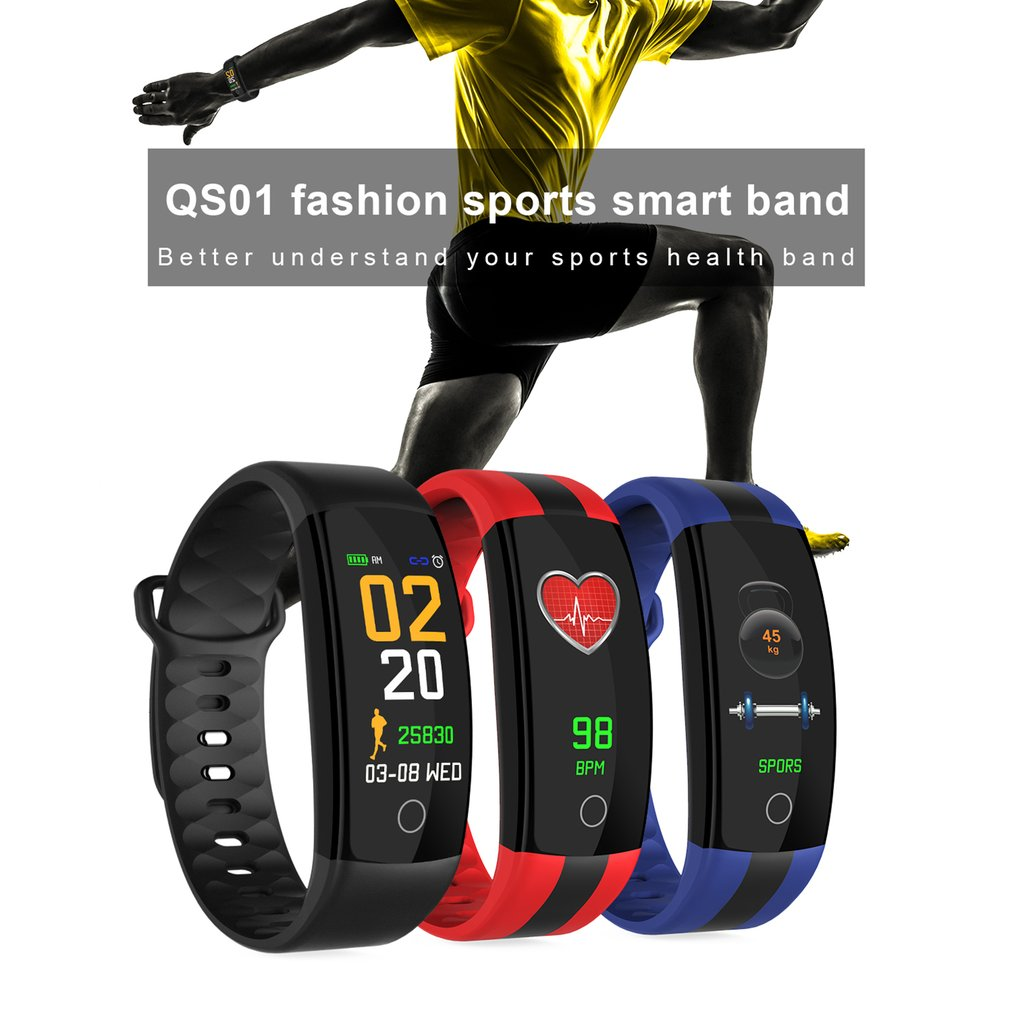 TF7 Smart Bracelet Band Pedometer Heart Rate Monitor Pulsometer Blood Pressure Measurement Message Remind Smart Watch New