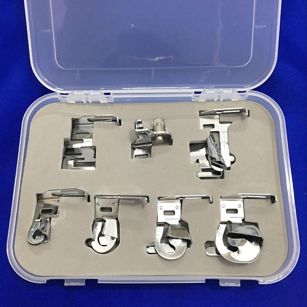 7 Pcs/lot Hemmer And Binder Foot Sewing Machine Parts
