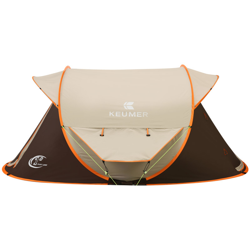 Automatique Pop Up 3 Personne Professionnel Coupe-Vent Imperméable Protection UV Camping Grande Tente Gazebo Tente De Plage - 3