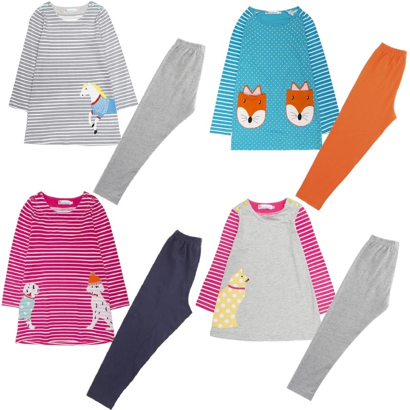Hooyi Girls Clothes Sets Children Dress + Leggings Clothing Suit 100% Cotton Embroidery Jumpers Pants Baby Girl Clothing Tops little maven brand 2017 new summer baby girls clothes cotton tank tops leggings dot print children s sleeveless sets 20119