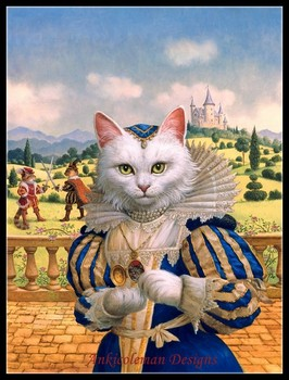 Needlework for embroidery DIY French DMC High Quality - Counted Cross Stitch Kits 14 ct Oil painting - Cat Princess