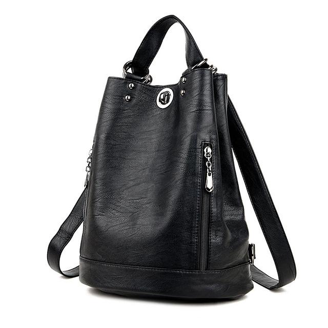 KINGTH GOLDN High Quality Women Backpack Soft Pu Leather Brand Travel Female Backpacks Schoolbag Shoulder Bags Mochila