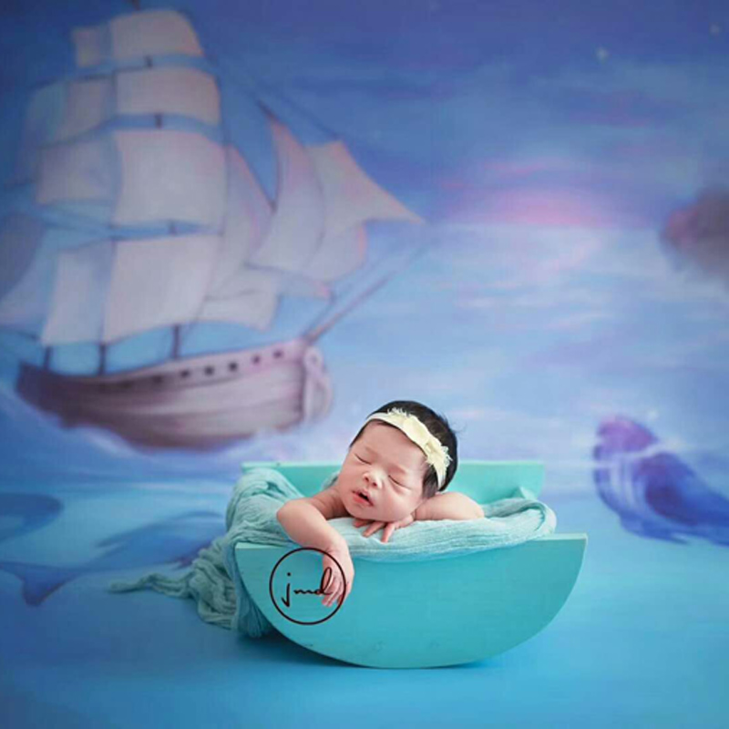 Newborn Baby Photography Boat Basket Props Infant Photo Shoot Studio Accessories Baby Picture fotografia Shooting Wooden Basket newborn photography wooden retro basket props little baby picture photo shoot studio posing love box bebe fotografia accessories