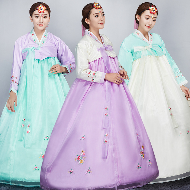 National Stage Outfit Minority Costume Multicolor Hanbok Korean