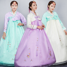 National Stage Outfit Minority Costume Multicolor Hanbok Korean Traditional Embroidery Costume Hanbok Korean Traditional Dress