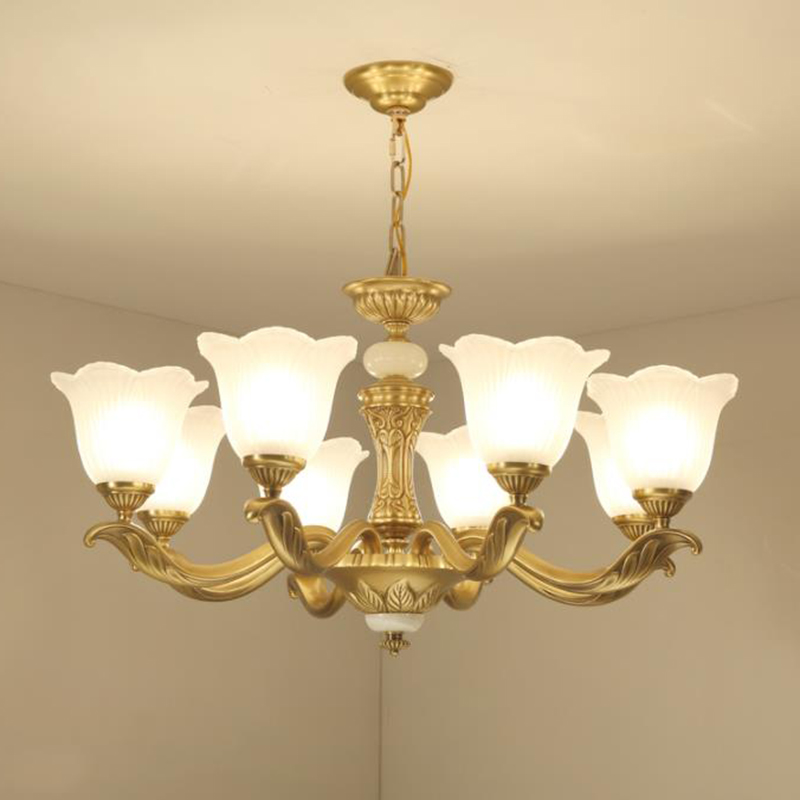 American Country Style LED Cooper Chandelier Lights Luxury