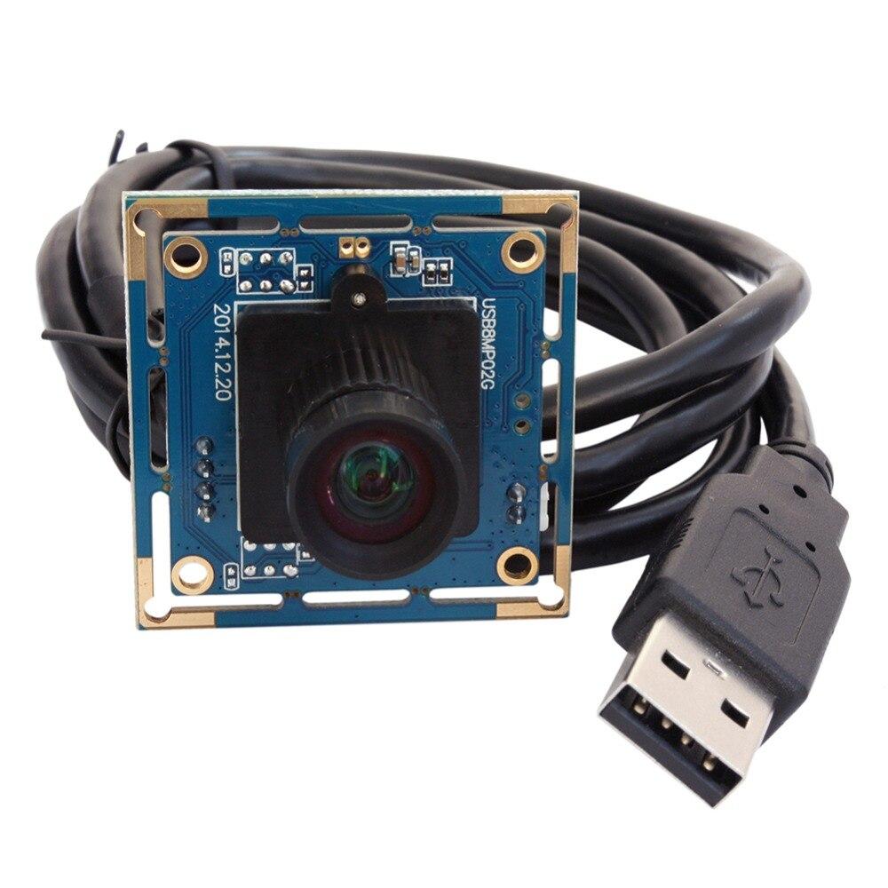 ELP 8 мегапикселей Высокого Разрешения SONY IMX179 Мини 25 мм фокусное расстояние объектива Android видеокамера UVC для Windows