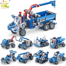 4style City Excavator Lifting Forklift Crane Building Blocks Legoing Technic Engineer Brick City Construction Toys Children цена в Москве и Питере