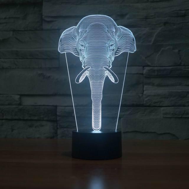 Amazing 3D Illusion led Table Lamp Night Light with animal elephant shape  FS-2837 - Amazing 3D Illusion Led Table Lamp Night Light With Animal
