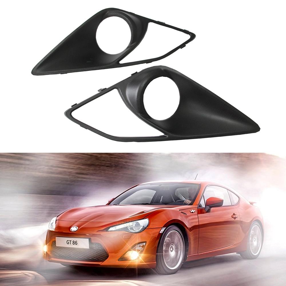 2pcs/lot New Carbon Fiber Front Fog Light Covers for Toyota GT86 GT 86 2013-2016 for Subaru BRZ Scion FR-S yandex w205 amg style carbon fiber rear spoiler for benz w205 c200 c250 c300 c350 4door 2015 2016 2017