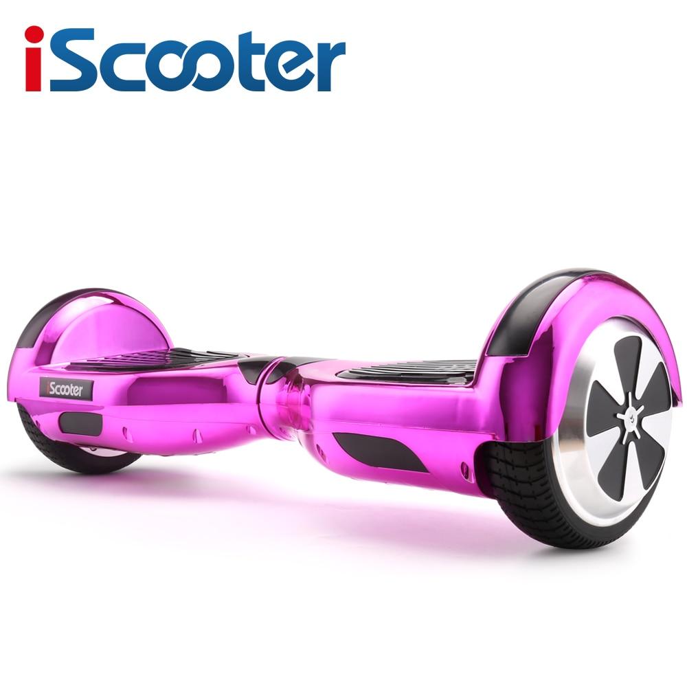 "IScooter Электрический скейтборд ХОВЕРБОРДА балансируя два 6,5 дюймов колеса со светодио дный Bluetooth динамик 6,5 ""hover доска"