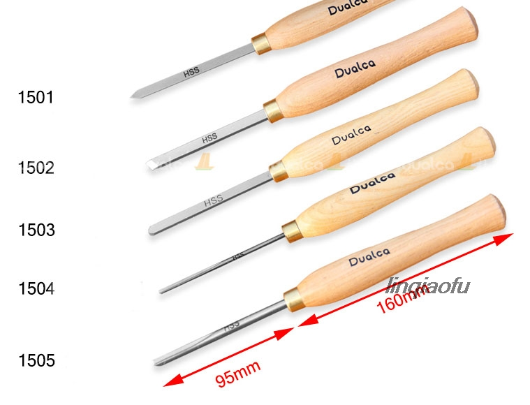 A1501 A1505 A1503 A1504 A1505 HSS Small Woodturning Chisel SET For Small Details